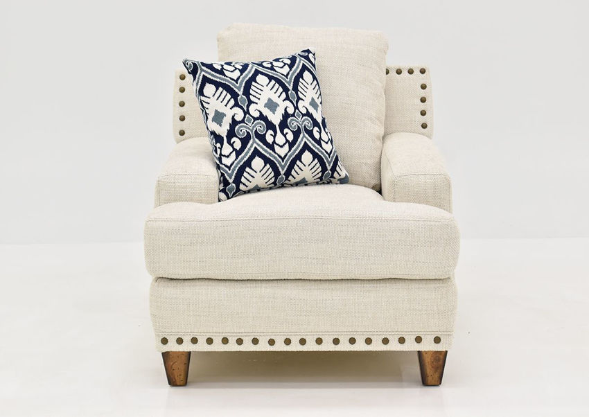 Off White Brynwood Chair by Franklin Furniture, Showing the Front View, Made in the USA | Home Furniture Plus Bedding