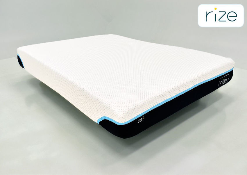 Copper Breeze Queen Size Mattress by Rize Showing the Angle View | Home Furniture Plus Bedding