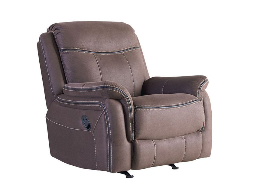Chocolate Brown Champion Rocker Recliner by Standard Furniture Showing the Angle View | Home Furniture Plus Bedding
