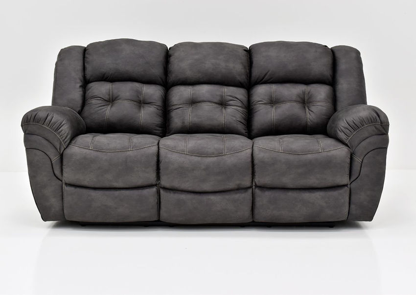 Gray Denton Reclining Sofa by HomeStretch Showing the Front View, Made in the USA | Home Furniture Plus Bedding