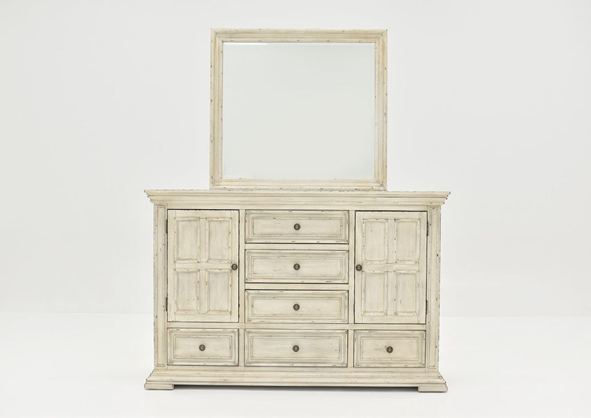 White Big Valley Dresser with Mirror by Liberty Furniture Showing the Front View | Home Furniture Plus Bedding