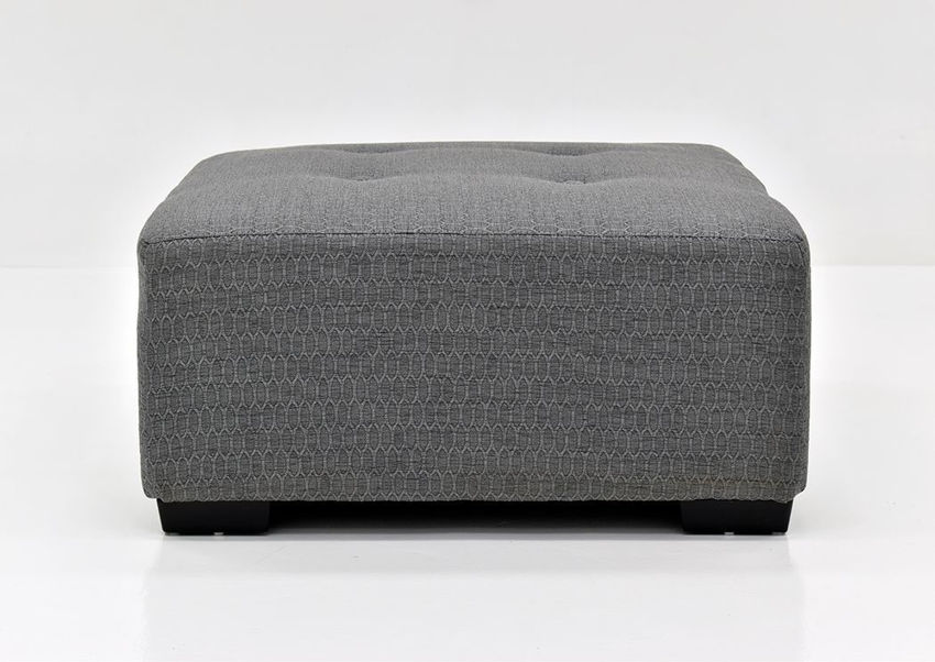 Dove Gray Crosby Cocktail Ottoman by Franklin Showing the Front View, Made in the USA | Home Furniture Plus Bedding