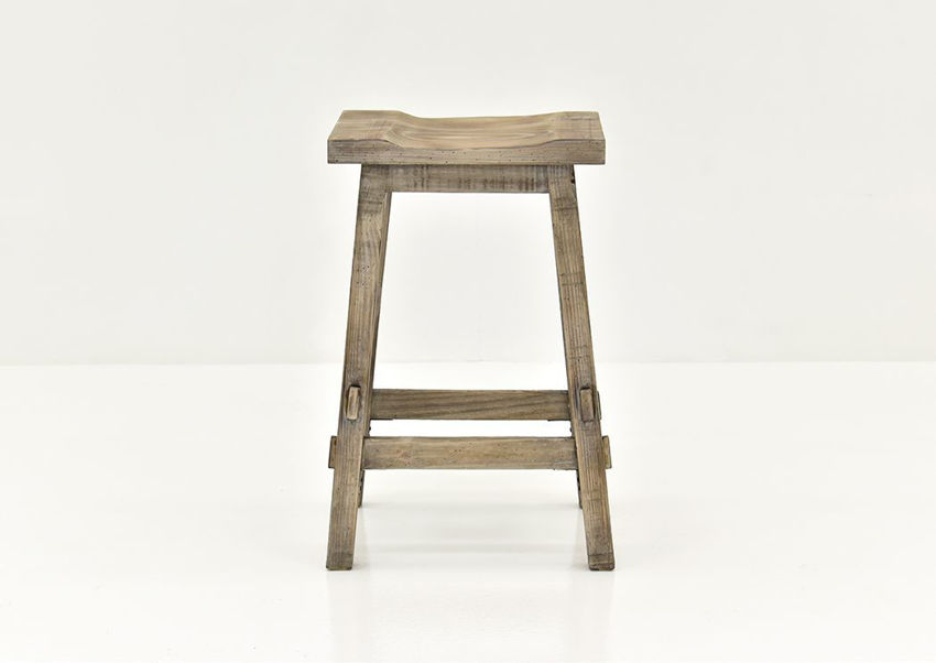 Vintage Gray Trent 24 Inch Barstool by Vintage Showing the Front View | Home Furniture Plus Bedding