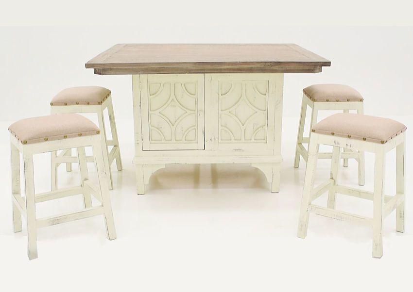 White Westgate 7 Piece Pub Table Set by Vintage Showing the Group | Home Furniture Plus Bedding