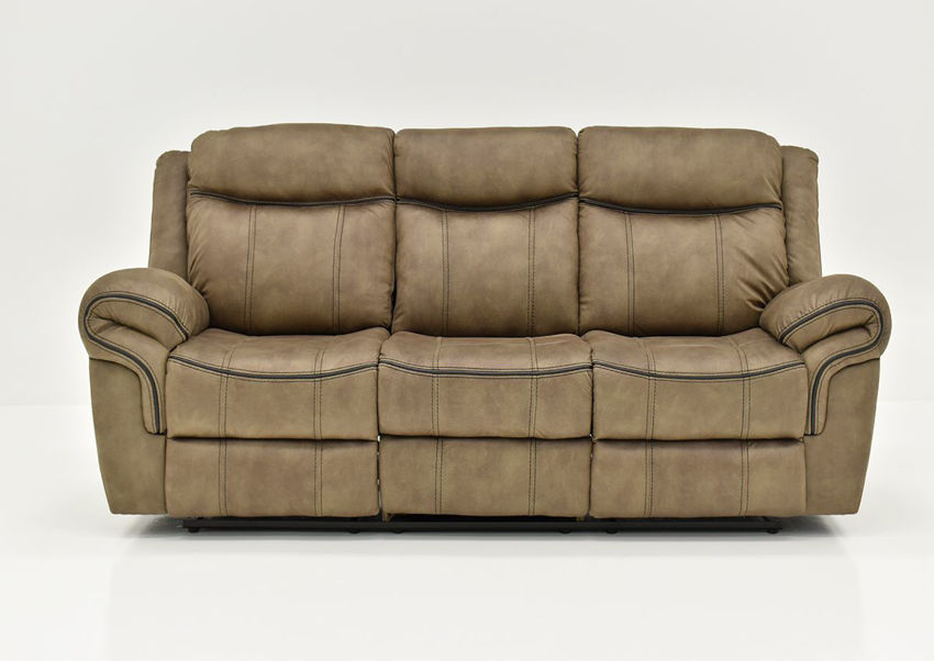 Brown Sorrento Reclining Sofa By Lane Furniture Showing the Front View | Home Furniture Plus Bedding