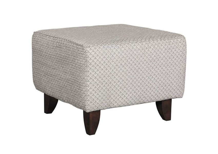 Gray Bay Ridge Ottoman by Behold Showing the Angle View,  Made in the USA | Home Furniture Plus Bedding