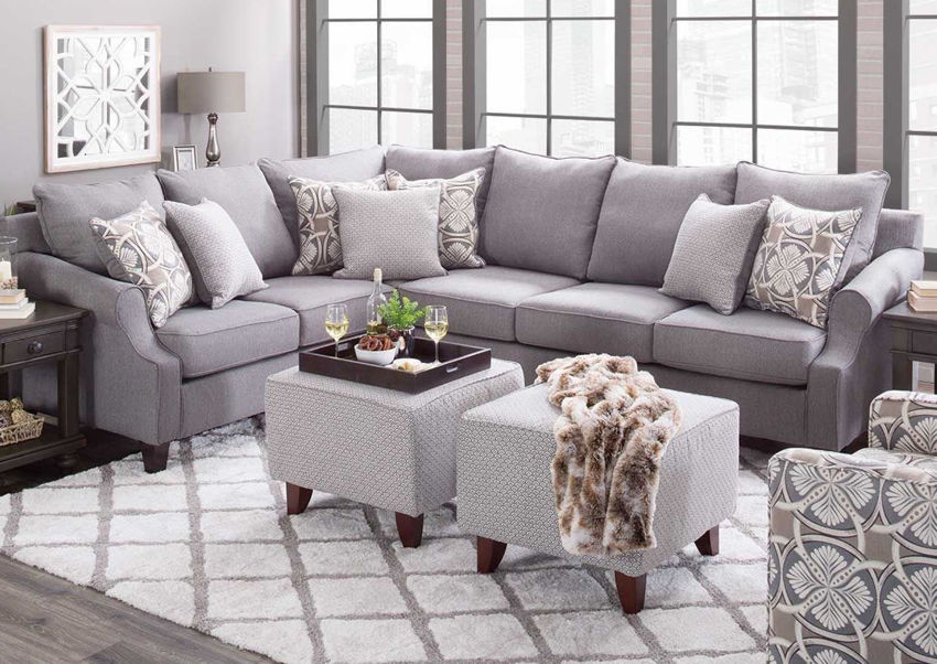 Room shot of the Bay Ridge Sectional Sofa by Behold Home Furnishings | Home Furniture Plus Bedding