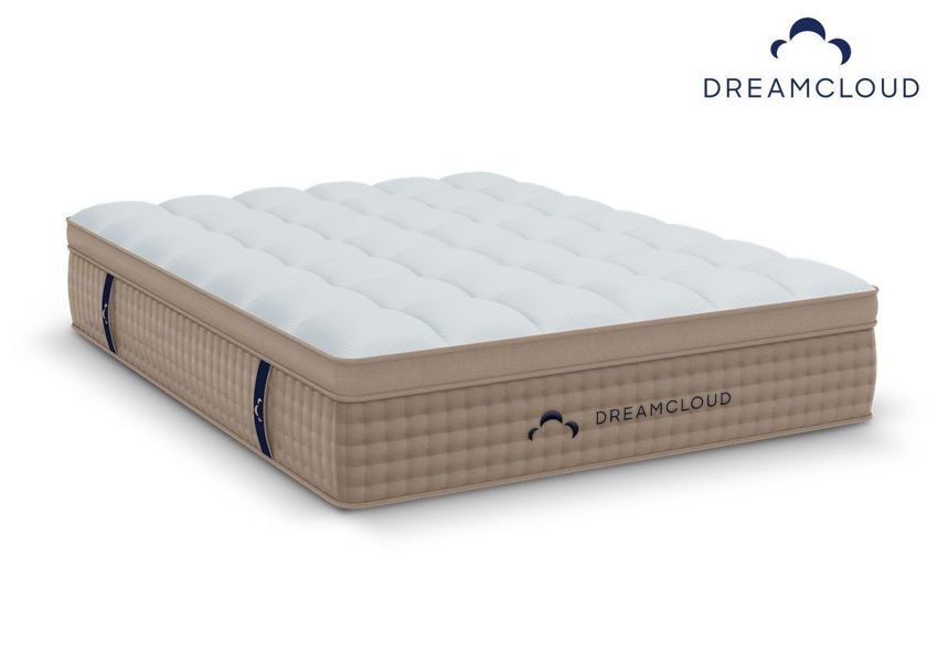 DreamCloud Hybrid Mattress. Queen Size. Showing the Angle View | Home Furniture Plus Bedding
