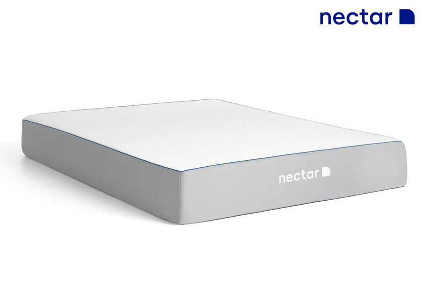 Nectar Memory Foam Mattress. Queen Size, Showing the Angle View  | Home Furniture Plus Bedding