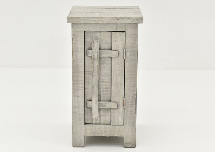 Gray San Andres Chairside End Table by International Furniture Showing the Front View | Home Furniture Plus Bedding
