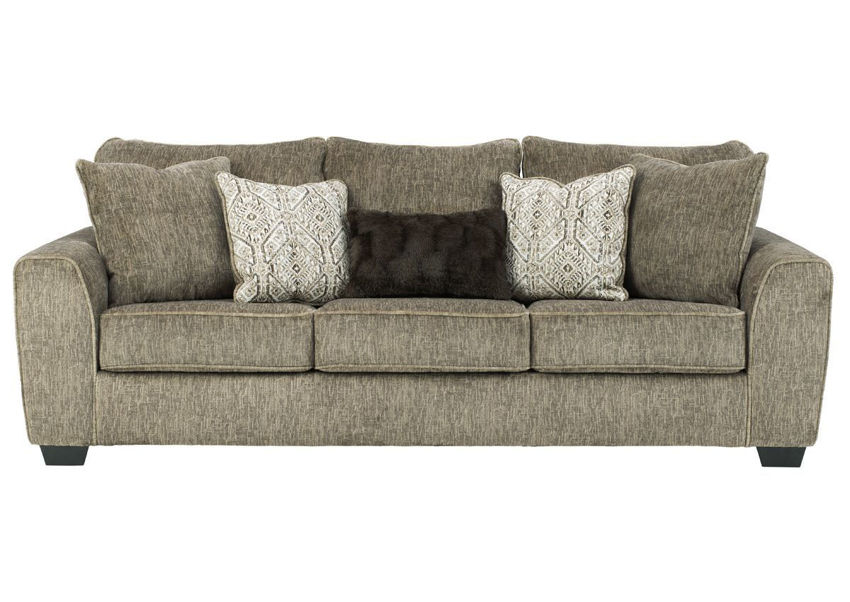 Chocolate Brown Olin Sofa by Ashley Furniture Showing the Front View | Home Furniture Plus Bedding