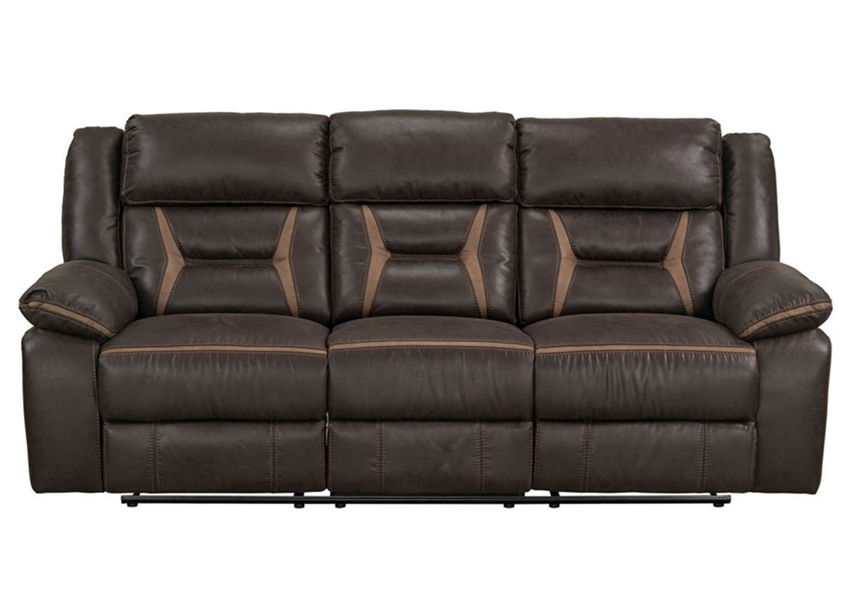Chocolate Brown Engage Reclining Sofa by Lane Home Furnishings Showing the Front View   Home Furniture Plus Bedding