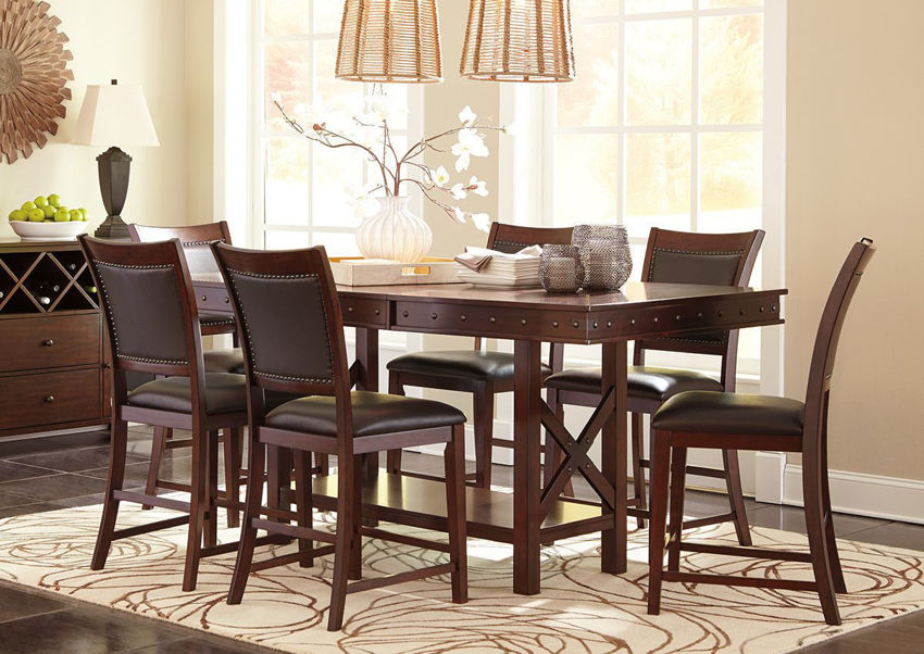 Collenburg Counter Height Dining Table Set by Ashley Furniture Showing the Room View | Home Furniture Plus Bedding
