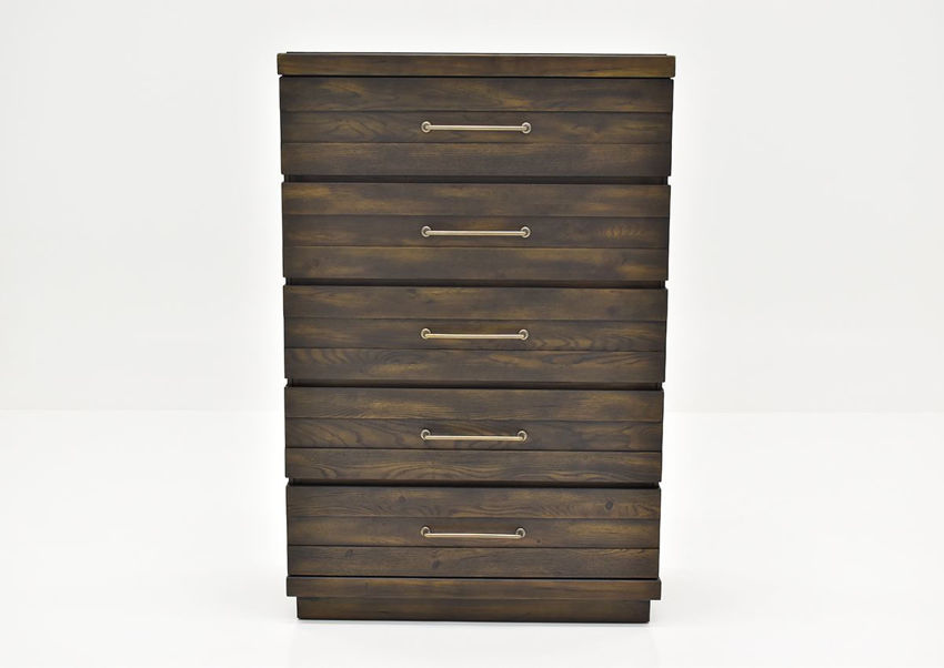 Brown Edison Chest of Drawers by Bernard Furniture Showing the Front View | Home Furniture Plus Bedding