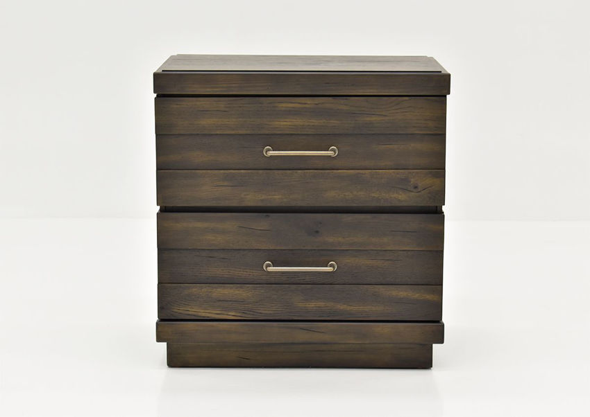 Brown Edison Nightstand by Bernard Furniture Showing the Front View | Home Furniture Plus Bedding