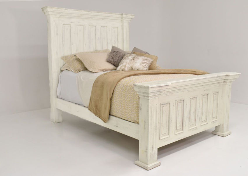 Picture of Chalet Queen Size Panel Bed - White