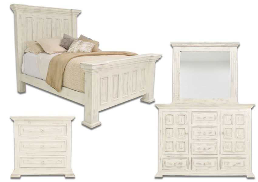 White Chalet Queen Size Bedroom Set by Vintage Furniture Showing the Group | Home Furniture Plus Bedding