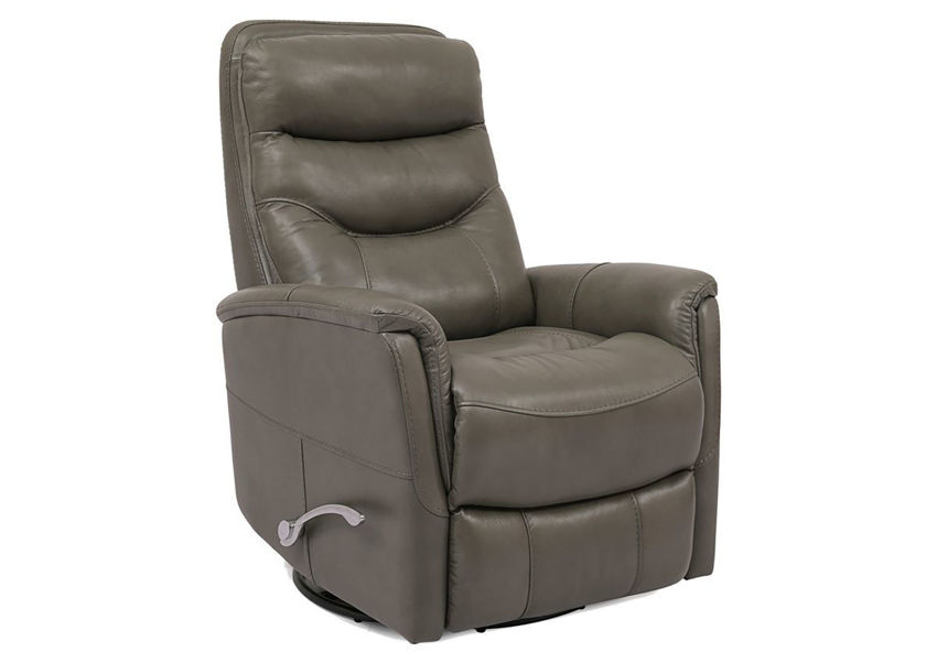 Ice Gray Gemini Swivel Glider Recliner by Parker House Showing the Angle View | Home Furniture Plus Bedding