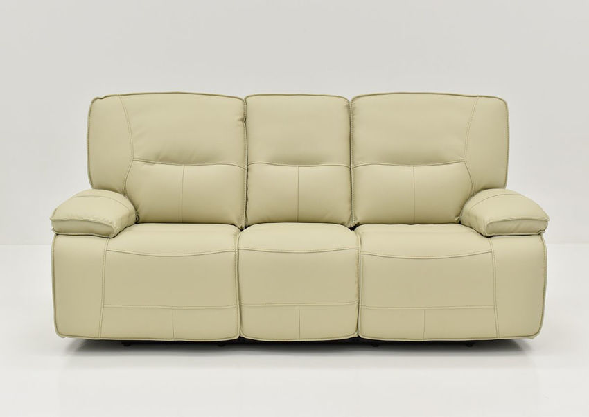 Front View of the Off White Spartacus POWER Reclining Sofa | Home Furniture Plus Bedding