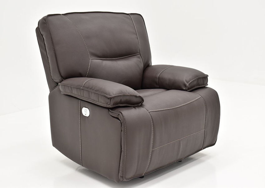 Slightly Angled View of the Spartacus POWER Recliner | Home Furniture Plus Bedding