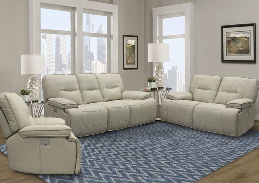 Picture of Spartacus POWER Reclining Sofa Set - Off White