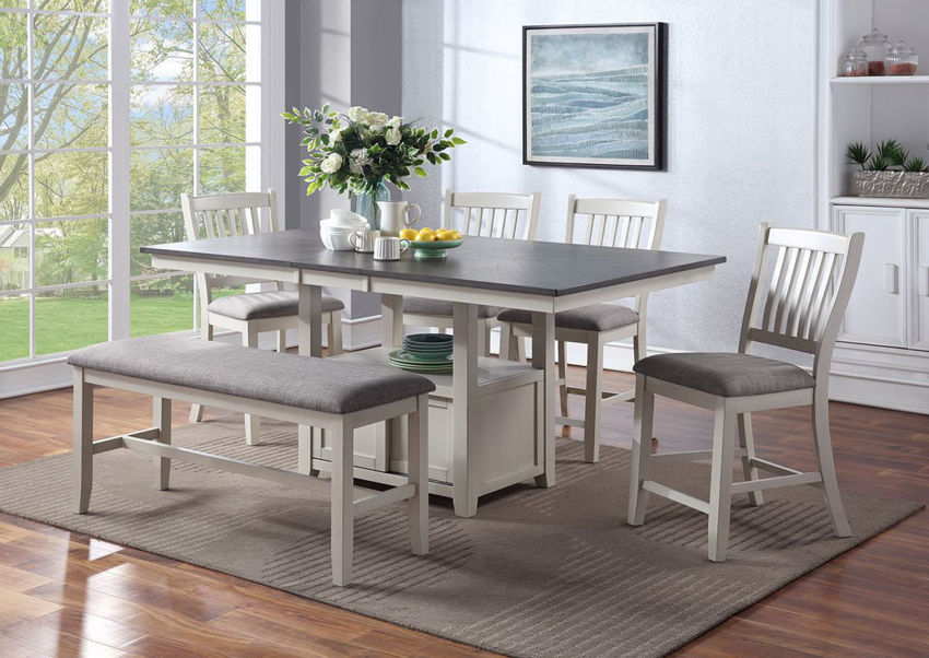 Room Shot of the Buford 6 Piece Counter Dining Table Set | Home Furniture Plus Bedding
