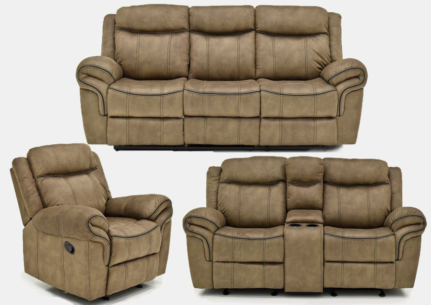 Picture of Sorrento Reclining Sofa Set - Brown