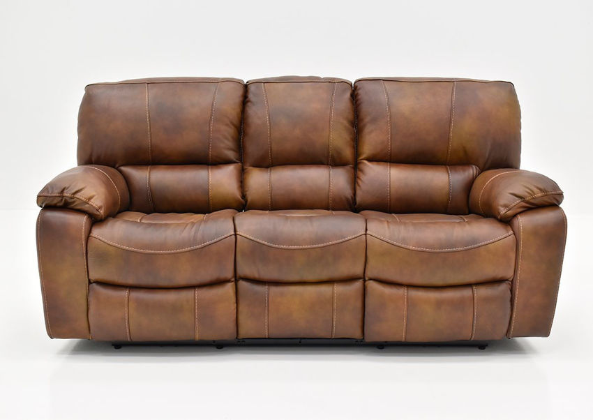 Front Facing View of the Legend POWER Leather Reclining Sofa by Man Wah | Home Furniture Plus Bedding