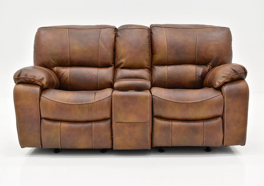 Front Facing View of the Legend POWER Leather Reclining  Loveseat by Man Wah | Home Furniture Plus Bedding