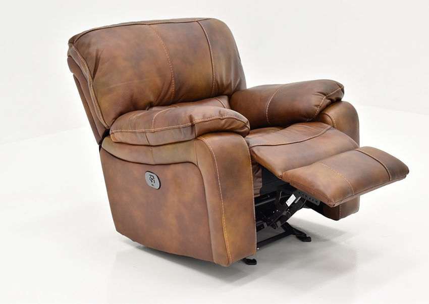 Angled View of the Legend POWER Leather Recliner by Man Wah | Home Furniture Plus Bedding