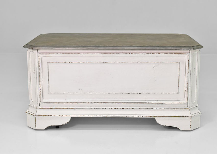 Front View of the Magnolia Manor Storage Trunk | Home Furniture Plus Bedding