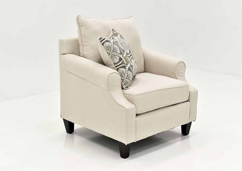 Angled View of the Bay Ridge Chair in Off White by Behold | Home Furniture Plus Bedding