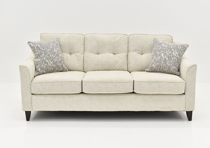 Front Facing View of the Oliver Sofa in Sand (Off White) by Behold Home | Home Furniture Plus Bedding