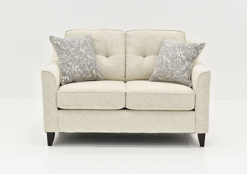 Front Facing View of the Oliver Loveseat in Sand (Off White) by Behold Home | Home Furniture Plus Bedding