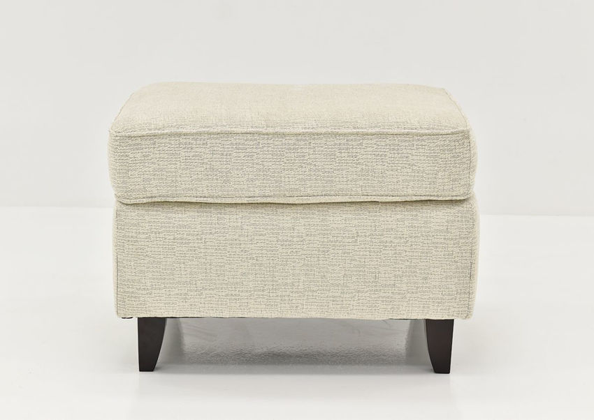 Front Facing View of the Oliver Ottoman in Sand (Off White) by Behold Home | Home Furniture Plus Bedding