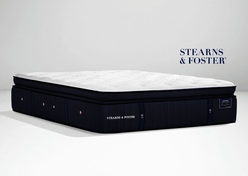 Slightly Angled View of the Cassatt Luxury Firm Euro Top Mattress by Stearns & Foster® in Full Size | Home Furniture Plus Bedding
