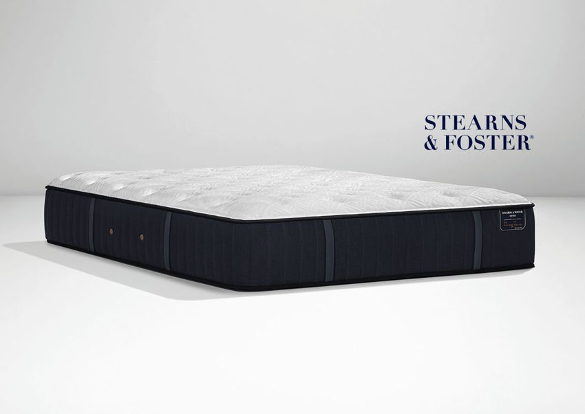 Angled view of the Hurston Luxury Cushion Firm Mattress by Stearns & Foster® in King Size   Home Furniture Plus Bedding