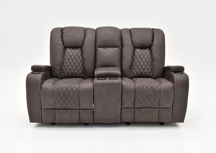 Front Facing View of the Aiden Reclining Loveseat by Man Wah | Home Furniture Plus Bedding