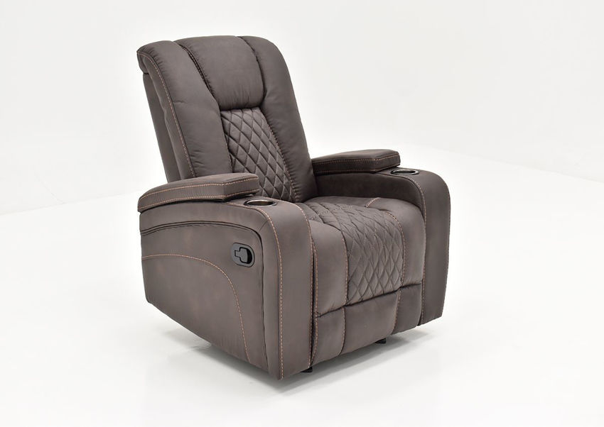 Angled view of the Aiden Recliner by Man Wah | Home Furniture Plus Bedding