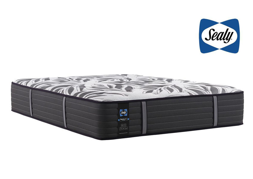 Slightly Angled View of the Sealy Posturepedic Plus Exuberant Firm Mattress | Home Furniture Plus Bedding