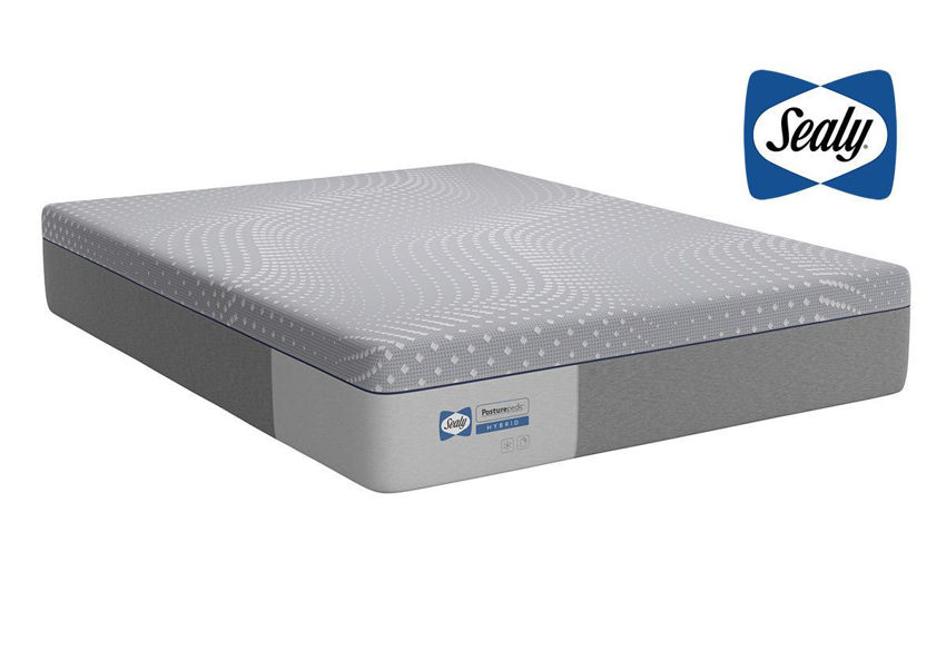 Slightly Angled View of the Sealy Posturepedic Hybrid Lacey Firm Mattress in Twin Size | Home Furniture Plus Bedding