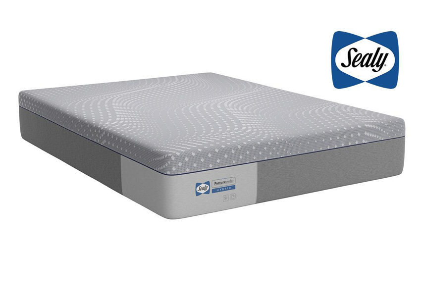 Slightly Angled View of the Sealy Posturepedic Hybrid Lacey Plush Mattress in Queen Size | Home Furniture Plus Bedding