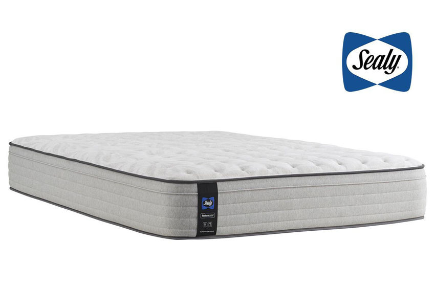 Slightly Angled View of the Sealy Summer Rose Medium Mattress in Full | Home Furniture Plus Bedding