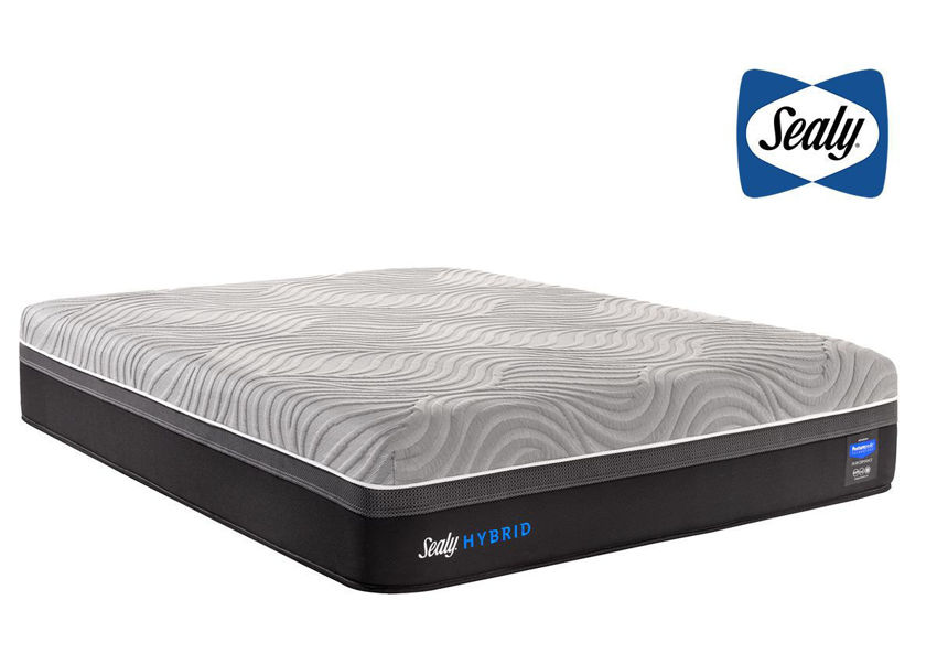 Sealy Hybrid Performance Copper II Plush Mattress Queen Size with Sealy Logo Top Right | Home Furniture Plus Bedding
