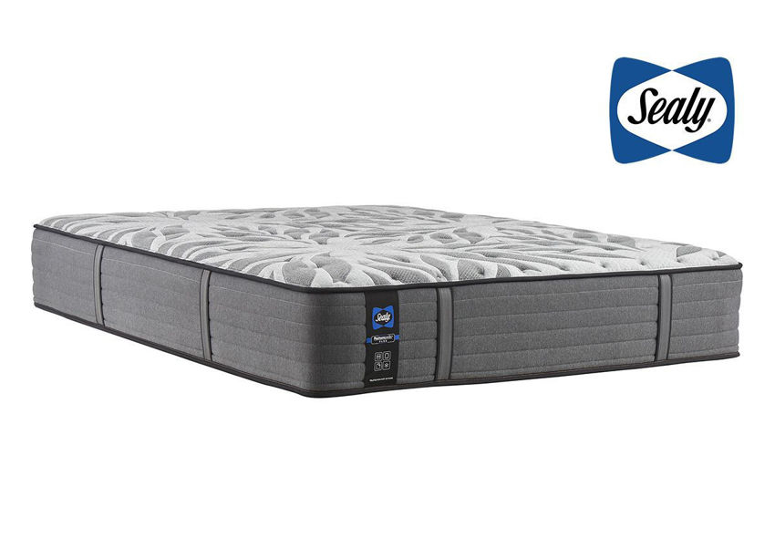Slightly Angled View of the Sealy Satisfied II Firm Mattress in Queen Size | Home Furniture Plus Bedding