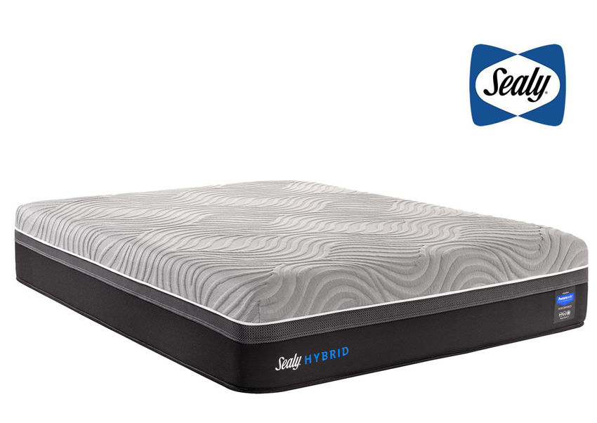 Sealy Hybrid Performance Kelburn II Mattress Twin XL Size with Sealy Logo Top Right   Home Furniture Plus Bedding