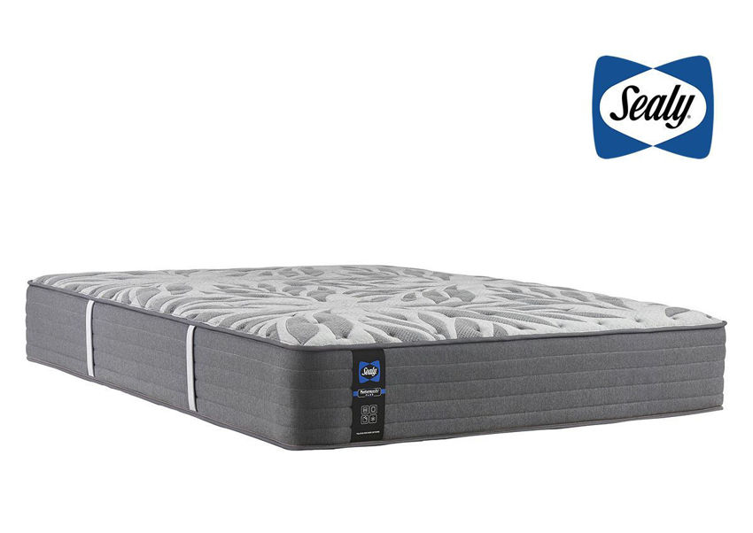 Slightly Angled View of the Sealy Opportune II Plush Mattress in Twin Size | Home Furniture Plus Bedding