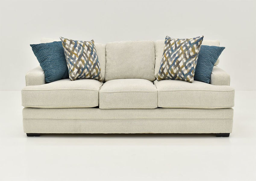Front Facing View of the Rowan Sofa in Off White by Franklin Furniture | Home Furniture Plus Bedding