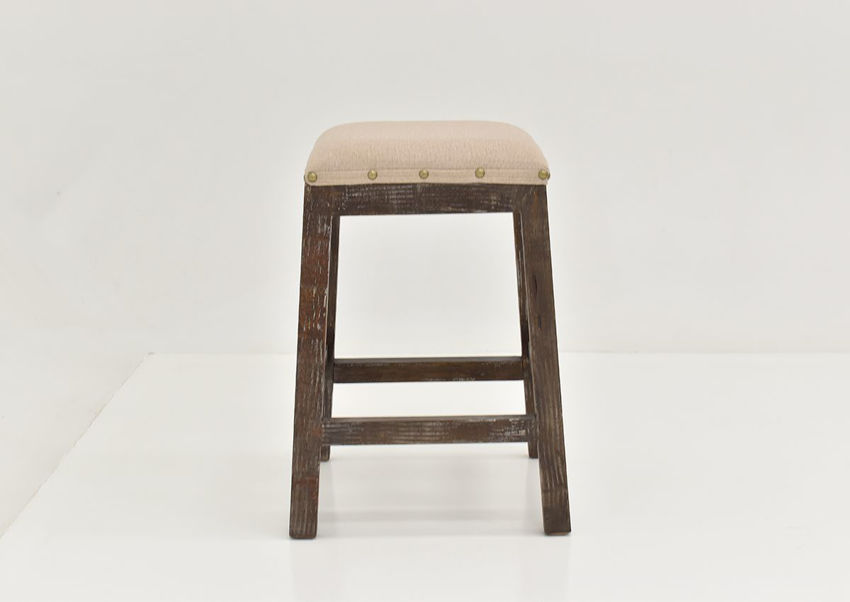 Front Facing View of the Brooks Barstool in Barnwood by Vintage Furniture, LLC. | Home Furniture Plus Bedding
