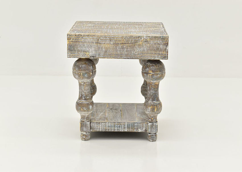 Front View of the Calais End Table by Vintage Furniture | Home Furniture Plus Bedding